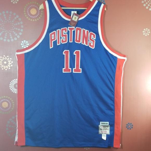 best sneakers ae6cc abac4 Isiah Thomas Detroit Pistons Retro Jersey